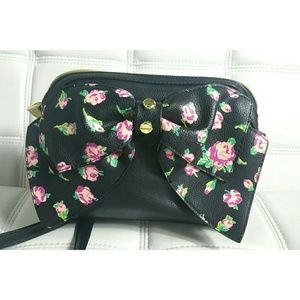 Betsey johnson crossbody with bow and Roses